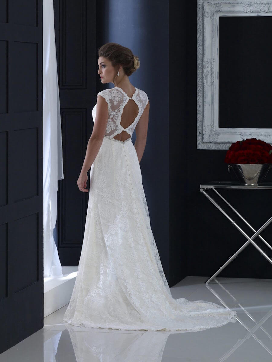 sheath lace gown
