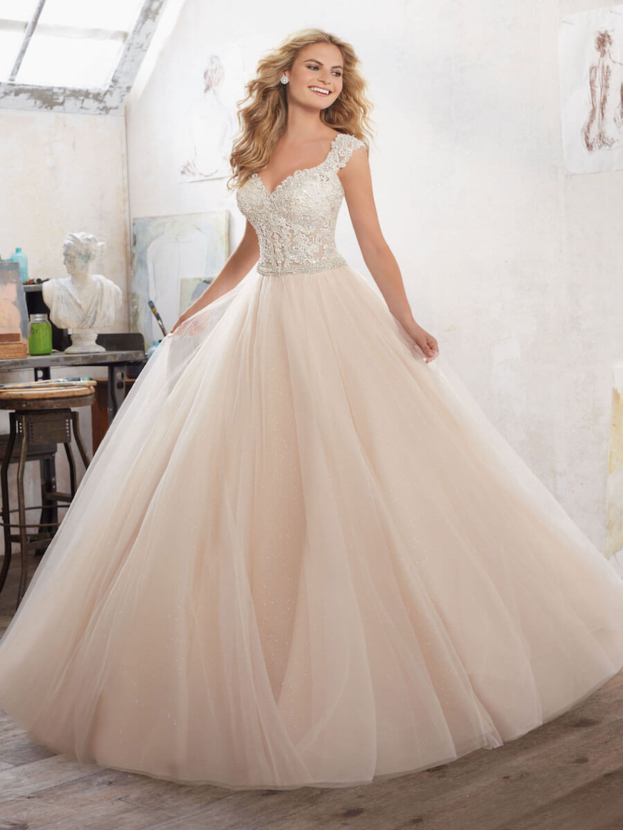 sparkling tulle ball gown