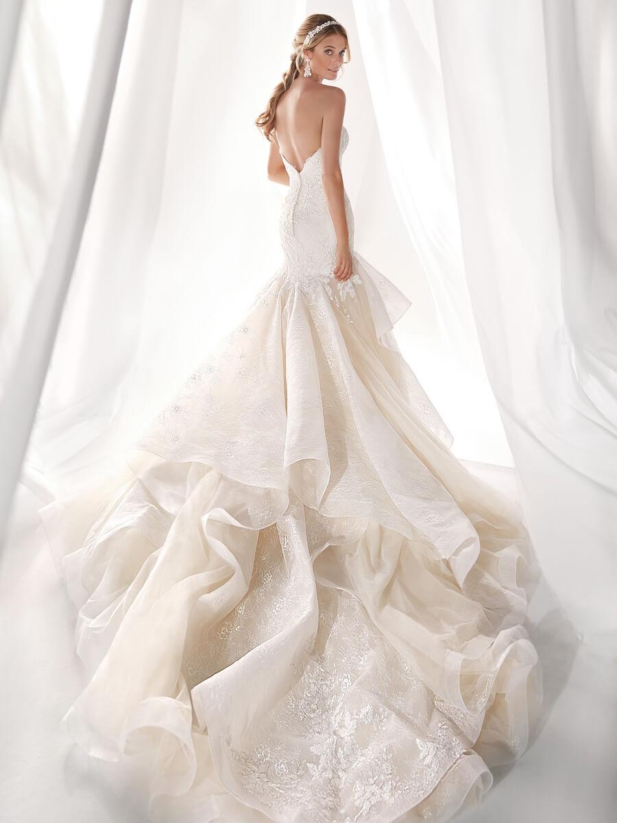 sensual champagne mermaid dress