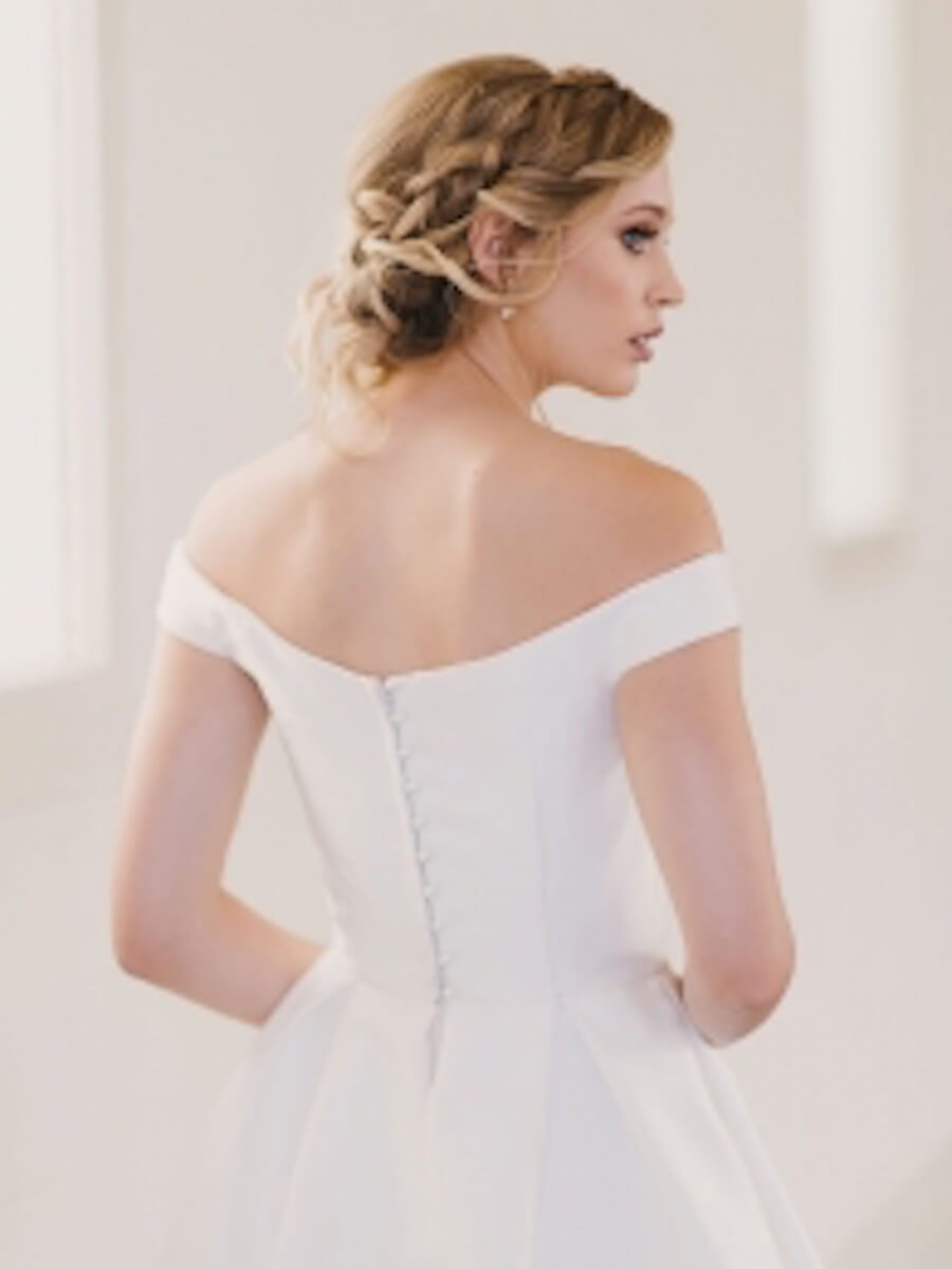 elegantly classic cut gown