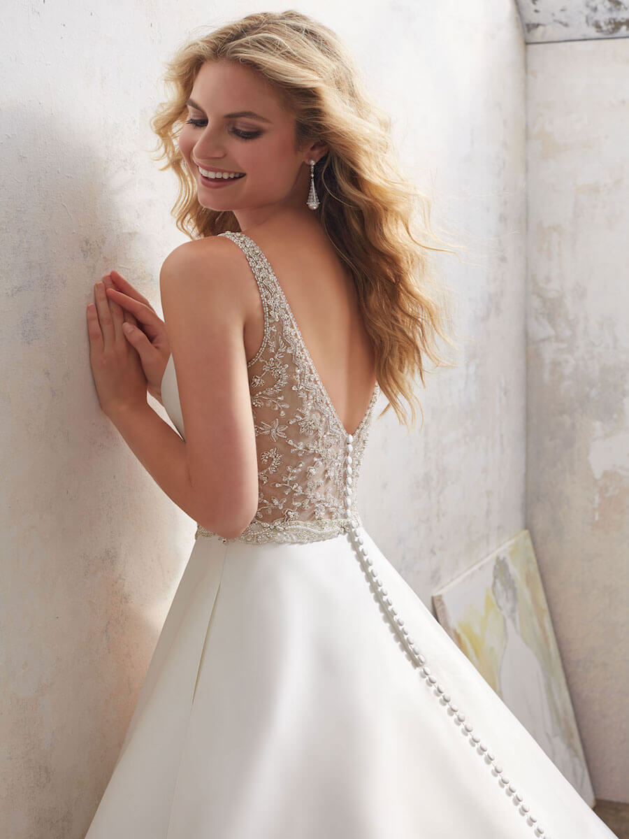 elegant traditional A-Line bridal gown