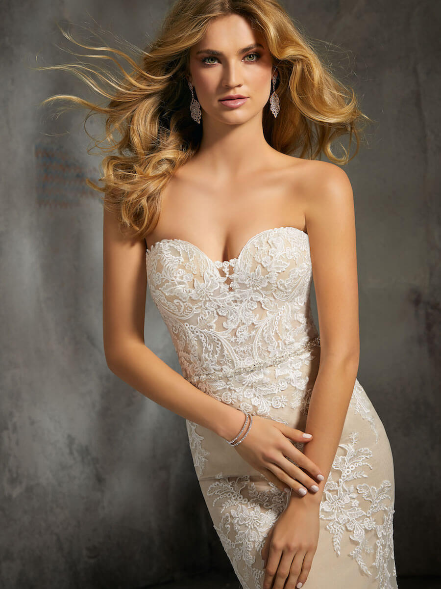 form fitting bridal gown