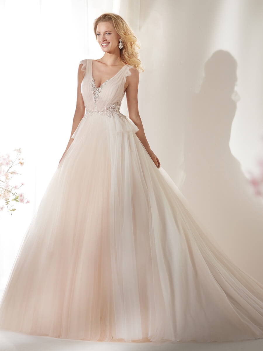 princess light pink tulle gown