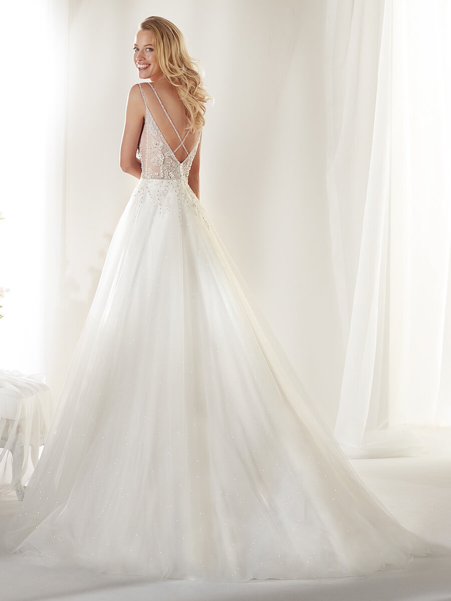 Ivory and Gold gown